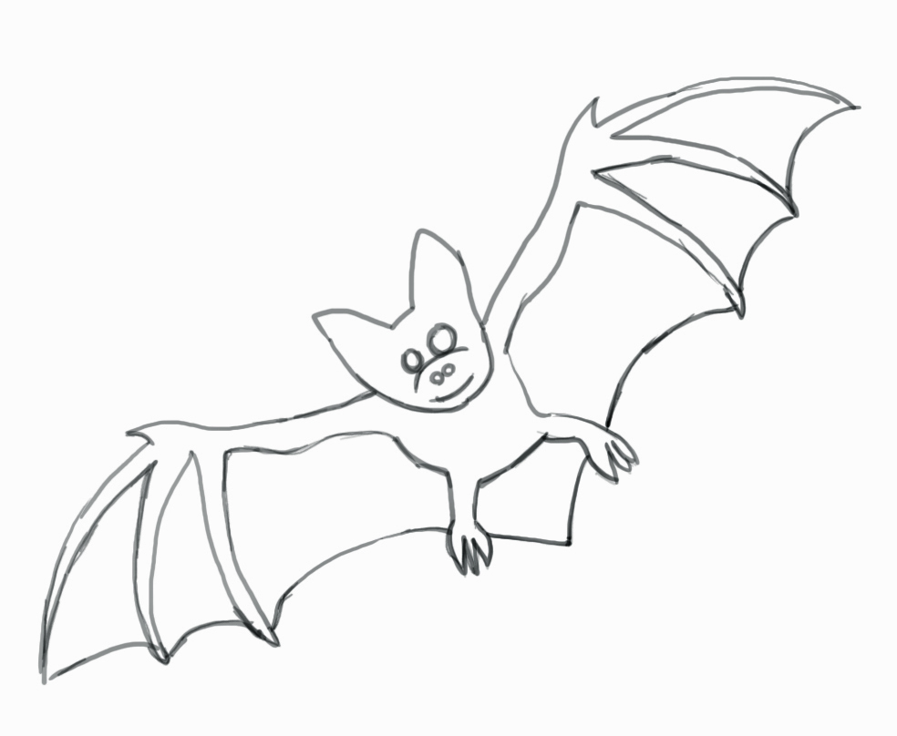 A Picture Of A Cartoon Bat how to draw a bat - step-by-step